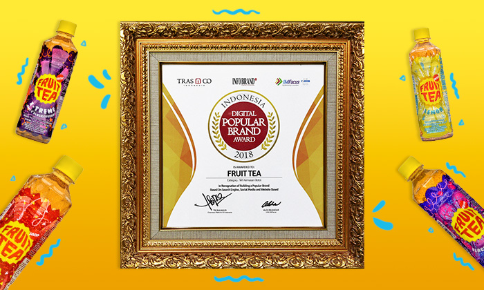 Fruit Tea, Salah Satu Indonesia Digital Popular Brand 2018 Awardee Thumbnail